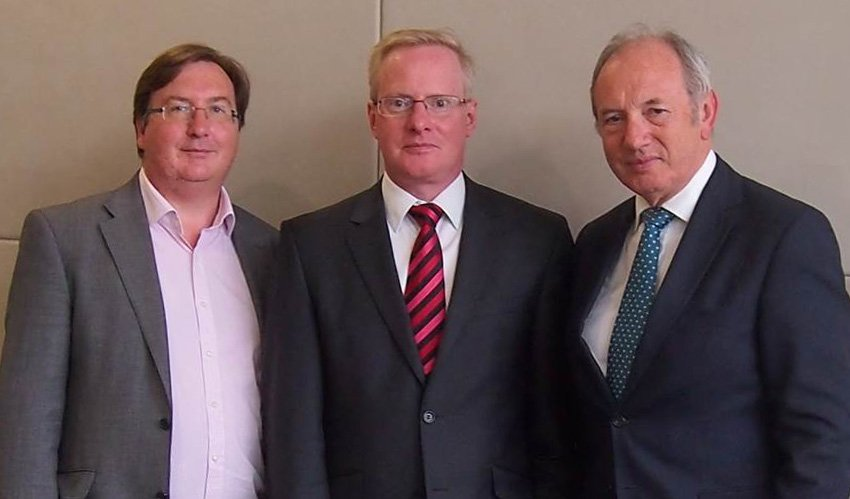From left to right: Redvers Cunningham, Martin Kellaway and Jonathan Bull